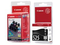 Packung mit 4 Tintenpatronen Canon PGI525 schwarz + CLI526 Farben