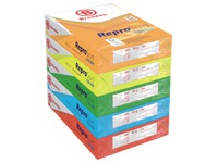 Paper colour A4 80 g Bruneau Reprosun vivid colours - Box of 5 reams of 500 sheets