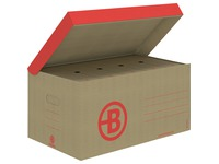 Caisse archives carton Bruneau H 27 x L 55 x P 36 cm brune