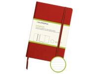Notizbuch 140 x 215 mm liniert - 192 Seiten - Rot