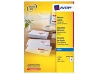 Box of 1600 address labels Avery J 8162 white 99,1 x 33,9 mm for inkjet printer