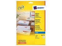 Package of 840 address labels Avery J 8160 white 63,5 x 3,.1 mm for inkjet printer