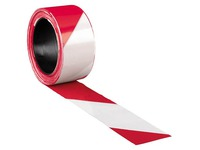 Signalisation tape 500 m x 8 cm non-adhesive, red/white