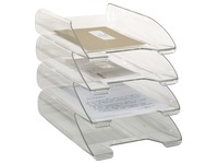 Crystal clear mail baskets Bruneau