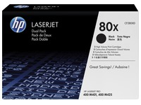 HP 80X, pack 2 toners noirs