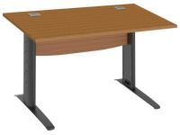 Straight desk Excellens W 120 cm cherry tree base L metal anthracite