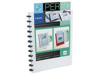 Personalizable document holder Viquel Géode opaque polypropylene A4 30 sleeves colour