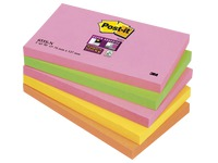 Zettel Neonfarben Super Sticky Post-It 76 x 127 mm