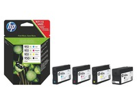 Pack cartridges HP zwart + kleur 950XL + 951XL