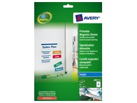 Magnetic label inkjet 78 x 28 mm Avery J8871-5 white - Pack of 90