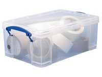 Plastic storage box 9 L Really Useful Box uncoloured