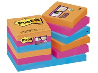 Notes colours Bangkok Super Sticky Post-it 47,6 x 47,6 mm - 1 block contains  90 sheets of 1 colour