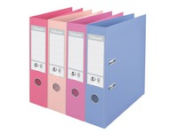 Plasticized lever-arch organizer Esselte N°1 Power Solea A4 back 7,5 cm assorted colours