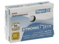 Box of 1000 staples Rapid 21/4 galvanized Strong