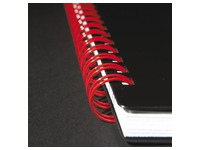Spiral notebook Oxford Professional Black'N Red A5 14,8 x 21 cm - white lined - 140 pages