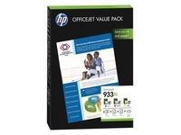 HP 933XL Value Pack - 1 - geel, cyaan, magenta - printcartridge / papierpakket (CR711AE)