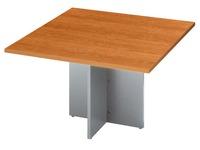 Extension pour table de réunion merisier L 120 x P 120 cm piétement aluminium Excellens