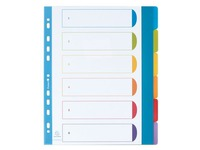 Rewritable A4+ dividers in coloured opaque polypropylene Exacompta - 6 divisions