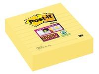 Notes lignées couleurs jaune Super Sticky Post-it 101 x 101 mm - bloc de 70 feuilles