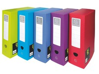 Storage box plastic Exacompta Fizz back 10 cm assorted colours