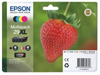 Pack of 4 cartridges Epson 29XL black + color, high capacity for inkjet