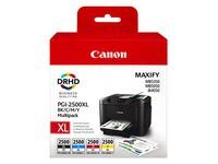 Canon PGI-2500XL BK/C/M/Y Multipack - 4-pack - High Yield - black, yellow, cyan, magenta - original - ink tank