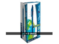 Pack 30 + 6 ballpoint pens Flexgrip Ultra Papermate retractable blue