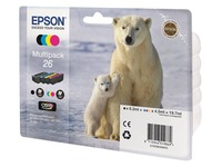 Epson 26 Multipack Easy Mail Packaging - 4 - zwart, geel, cyaan, magenta - origineel - inktcartridge (C13T26164510)