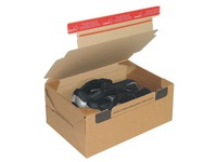 Mail box cardboard model send and return 38.4 x 29 x 19 cm