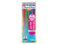 Roller pen Papermate Inkjoy gel retractable point 1 mm - wide - sleeve of 4 fun colors
