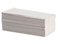 Carton of 4000 recycled paper towels - Z-folded 1 fold