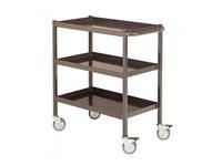 Rolwagen voor atelier 3 metalen platformen - draagkracht 150 kg