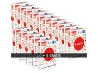 Papier A4 wit 80 g Rey Superior - Pack 10 riemen van 500 bladen + 5 riemen gratis