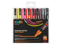 Marker Posca assorted warm colours conical point 1.8 to 2.5 mm - Box of 8