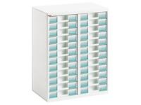 White module Clen 2 racks 24 drawers 6 cm