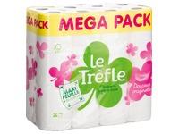 Papier toilette double épaisseur Le Trèfle Maxi Feuille - Colis 48 rouleaux