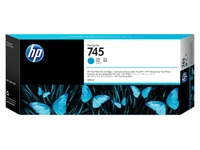 HP 745 - cyaan - origineel - DesignJet - inktcartridge (F9K03A)