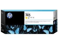 HP 745 - geel - origineel - DesignJet - inktcartridge (F9K02A)