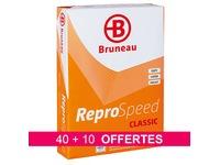 Pack 40 + 10 riemen papier Bruneau Reprospeed - A4 - wit 80g - 500 vellen