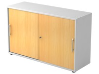 White body, beech doors H 74,8 x W 120 x D 40 cm