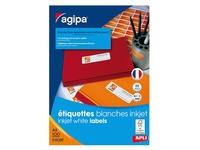 Address labels inkjet 70 x 35 mm Agipa 102497 white - box of 2400