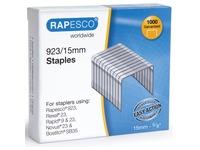 Rapesco nietjes 923/15 mm (type 23), verzinkt, doosje met 1000 nietjes