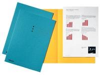 Esselte dossiermap blauw, karton van 180 g/m², pak van 100 stuks