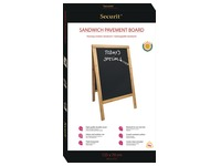 Securit stoepbord Sandwich ft 70 x 125 cm, teak