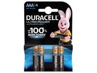 Pile alcaline AAA - LR3 Duracell Ultra Power - Blister de 4