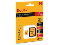 Micro SDHC memory card 8 GB with SDHC adapter - class 10