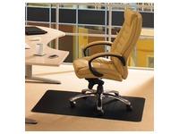 Floortex vloermat Cleartex Advantagemat, voor tapijt, rechthoekig, ft 90 x 120 cm, zwart