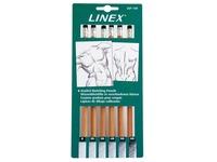 Linex schetspotloden set, blister van 6 stuks