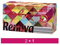 Pack 20 boxes with 80 handkerchiefs Red Label bicolored Renova + 10 for free