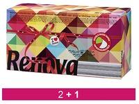En_pack 2 + 1 bte 80 mouchoirs bicolores renova